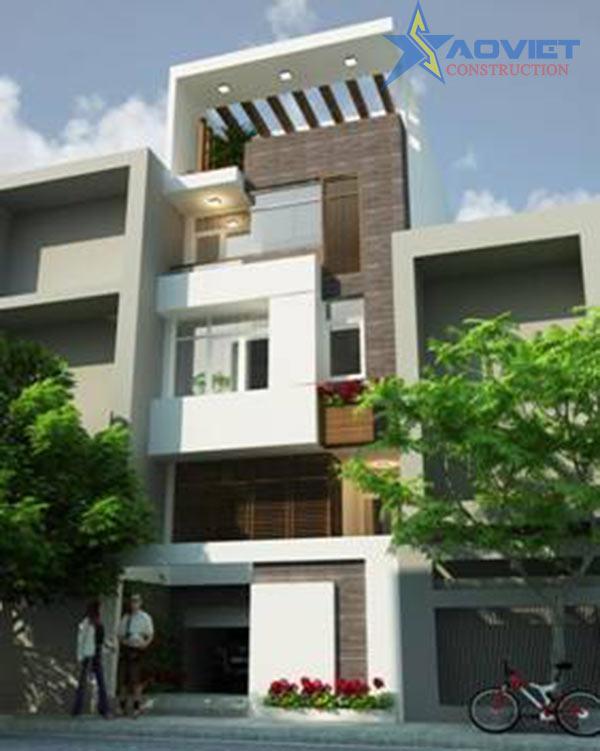 mẫu-nhà-2-mặt-tiền Thiết kế nhà phố hiện đại