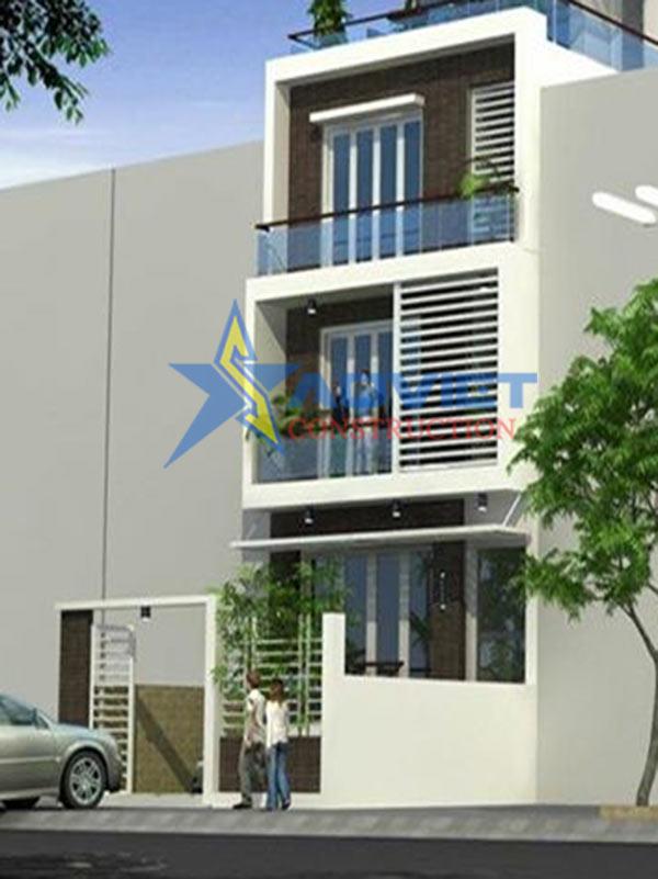 Thiết kế nhà phố 3 tầng hiện đại và sang trọng