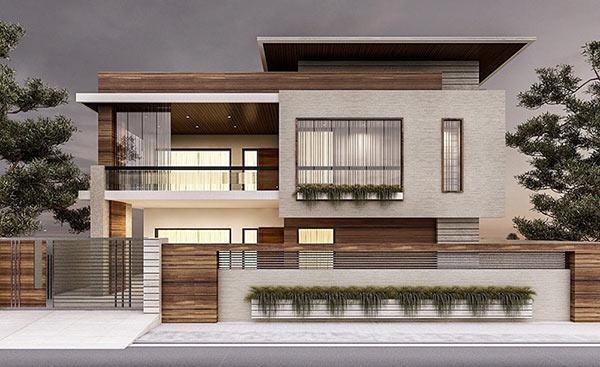 biệt-thự-phố-12 Mẫu biệt thự 2 - 3 tầng