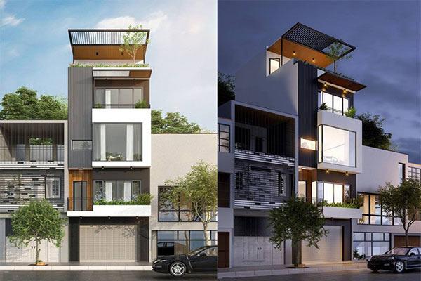 mẫu-06 Thiết kế nhà phố 7x10m vừa ở vừa kinh doanh