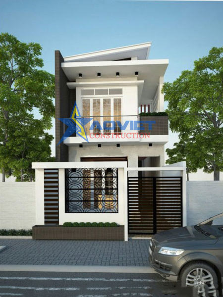 Thiết kế nhà phố 2 tầng đẹp với giá thành thấp