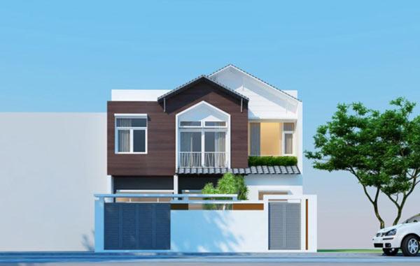 mẫu-mặt-tiền.jpg-01 Thiết kế nhà phố 2 tầng đẹp với giá thành thấp