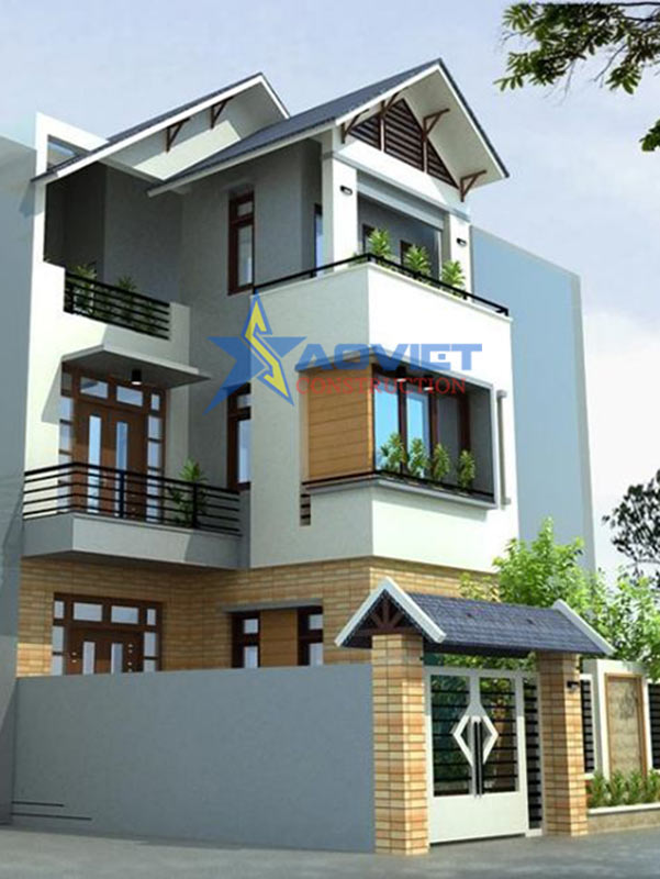 Mẫu thiết kế mặt bằng nhà phố