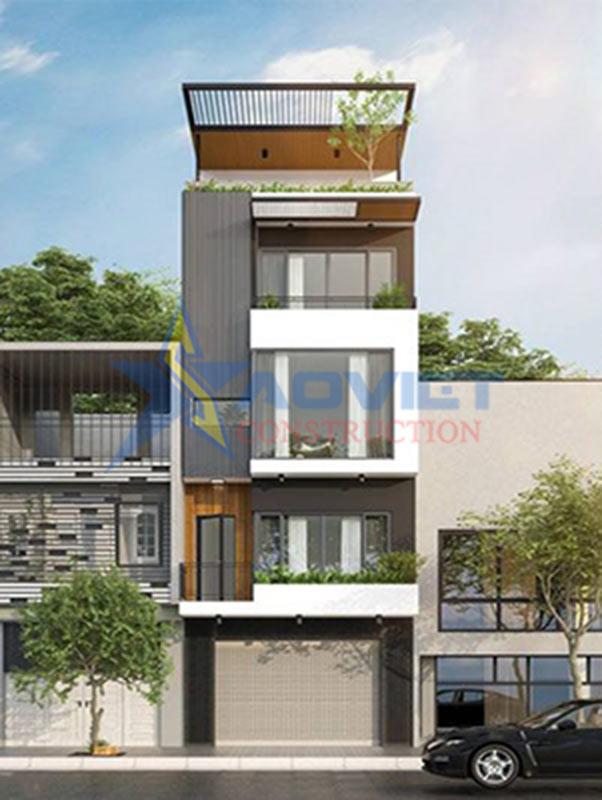 Thiết kế nhà phố 7x10m vừa ở vừa kinh doanh