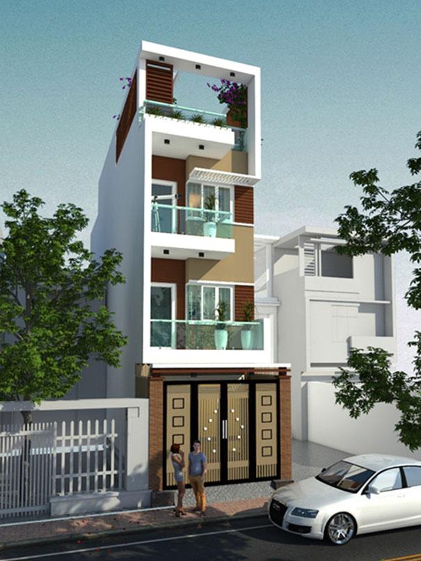 mẫu-01-1 Mẫu thiết kế nhà phố 4 tầng