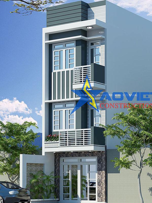 Mẫu thiết kế nhà phố 3 tầng nhà chú sắc quận bình tân