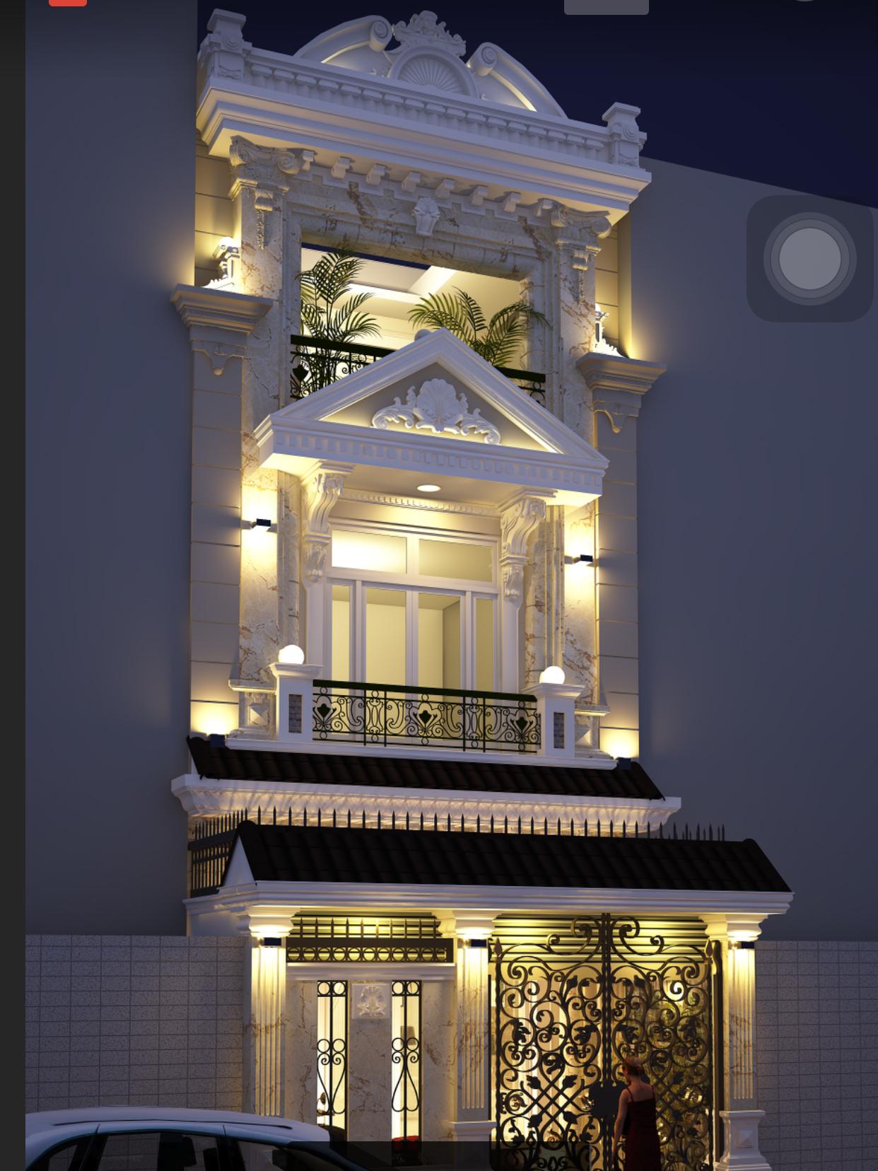 Mẫu thiết kế nhà phố hiện đại nhà anh Huy Quận Thủ Đức