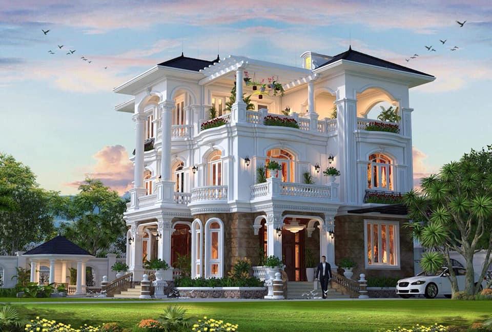biet-thu-3-tang-140m2-tan-co-dien-1 Giá xây nhà trọn gói