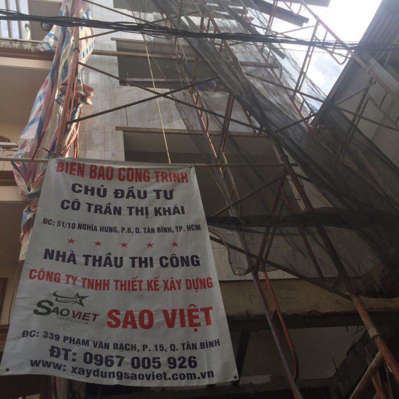 Thi công xây nhà trọn gói nhà chú Mạnh Quận Tân Bình