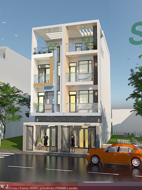 Mẫu thiết kế nhà phố phong cách hiện đại