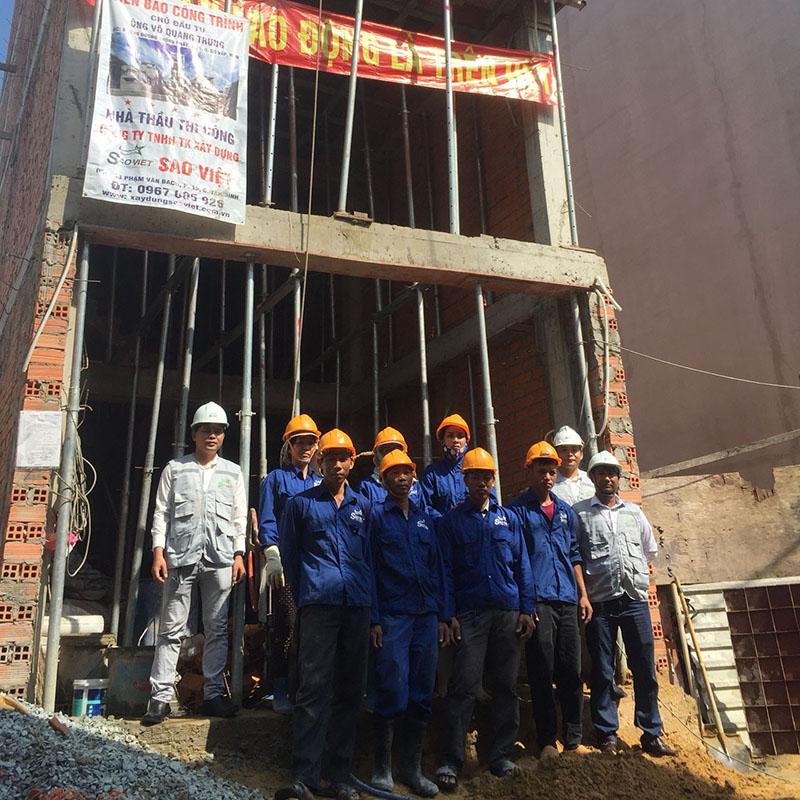 Dự án xây nhà trọn gói nhà chị Ngân Quận Tân Bình
