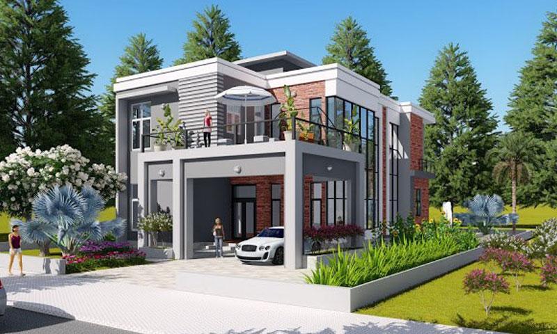 mau-thiet-ke-biet-thu-vuon-2-tang-dai-dien Đơn giá xây dựng nhà phố 2020