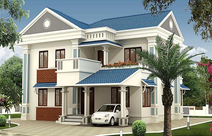 mau-nha-2-tang-nong-thon-don-gian-1 Cách tính mật độ xây dựng nhà phố