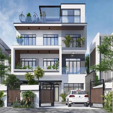 Chi phí xây nhà phố 4 tầng
