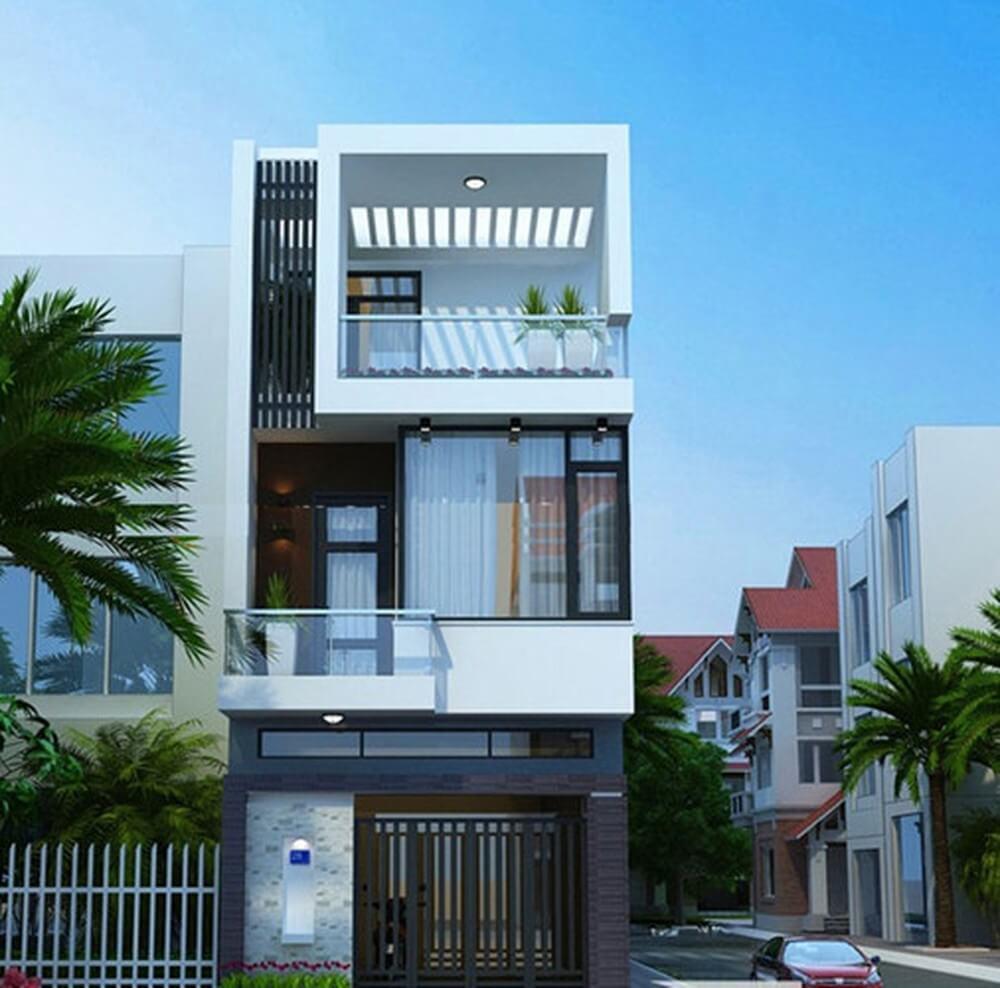nha-pho-dep-4 Xây nhà phố 2 tầng 1 tum