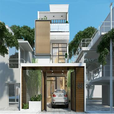 Xây nhà phố diện tích nhỏ 2020