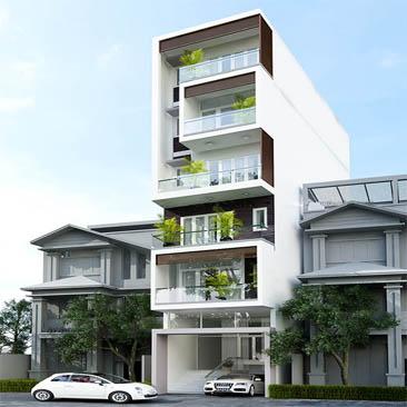 Xây dựng nhà cao tầng cho thuê