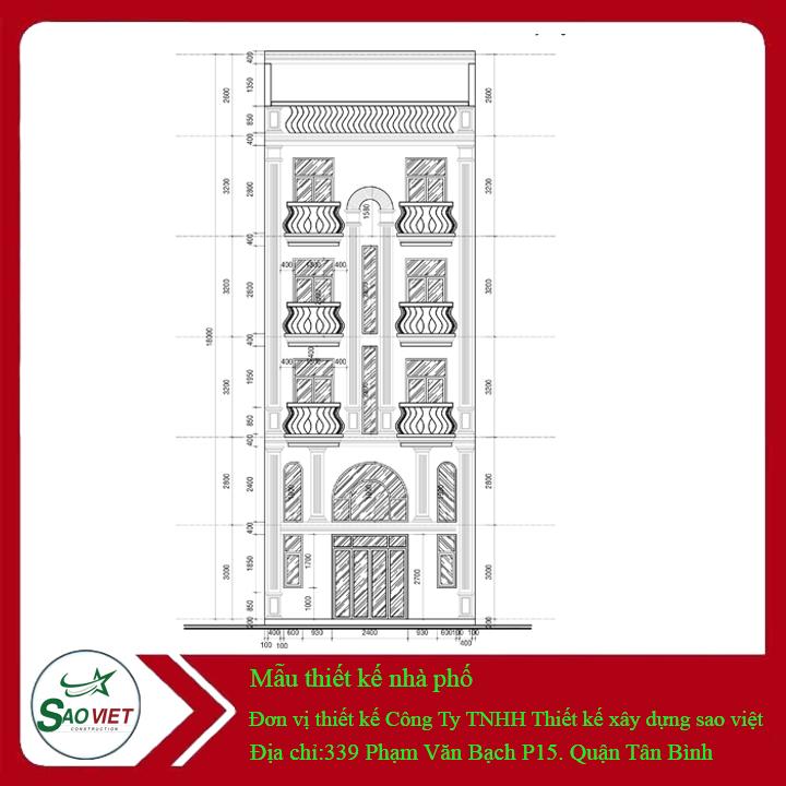 3-1 Mẫu thiết kế nhà phố 5 tầng