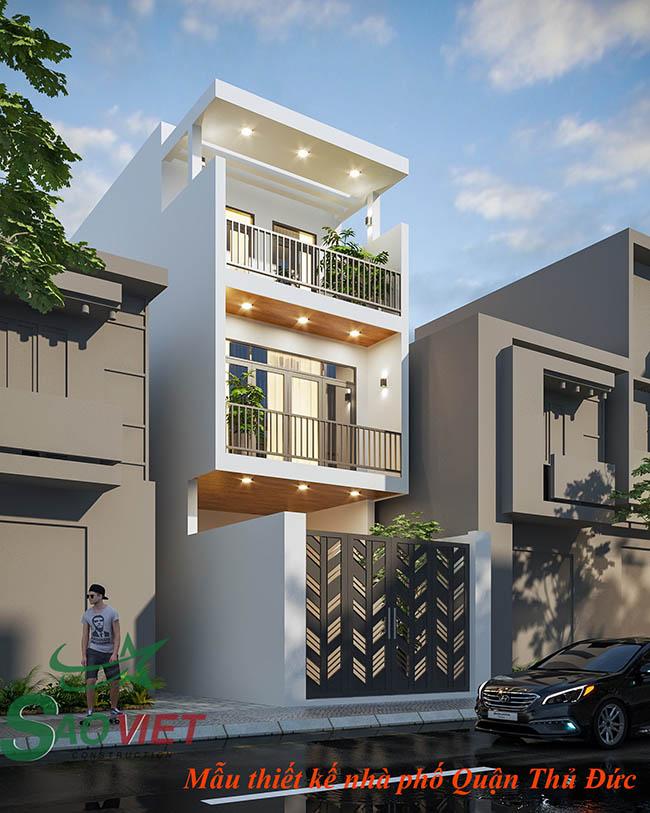 mẫu-nhà-3-tầng-1 Mẫu thiết kế nhà phố 3 tầng Quận Thủ Đức