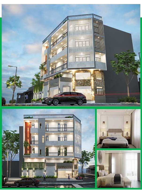 Mẫu thiết kế nhà phố 2 mặt tiền Quận Tân Phú