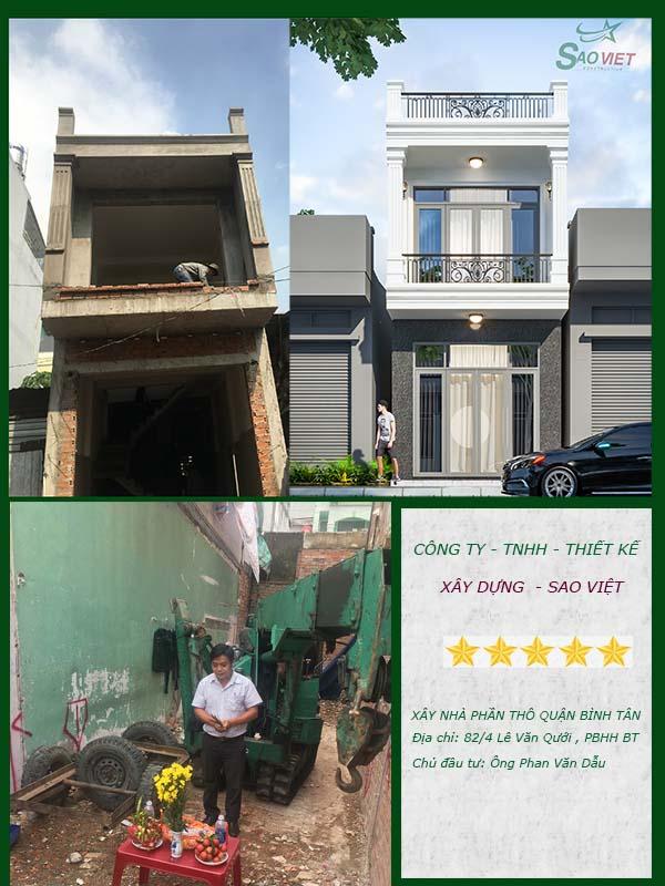 Xây nhà phần thô nhà chú Dẫu Quận Bình Tân