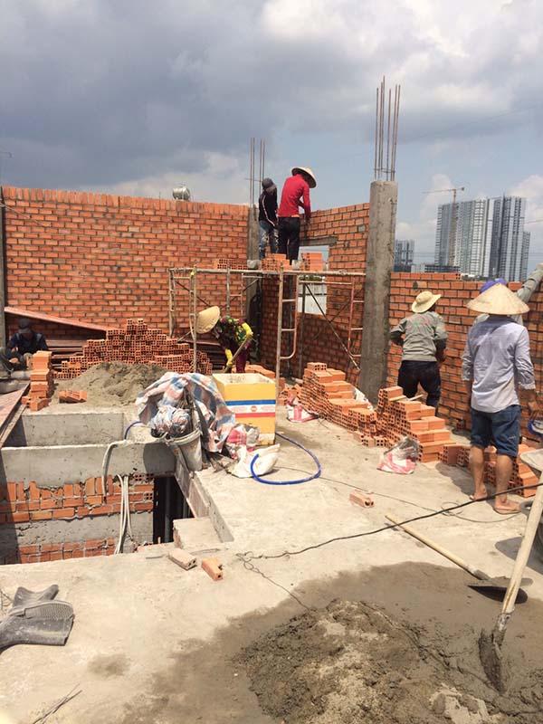 Xây dựng nhà phần thô quận 4